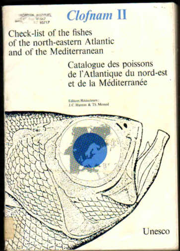 Check-list of the fishes of the north-EAstern Atlantic and of the Mediterranean