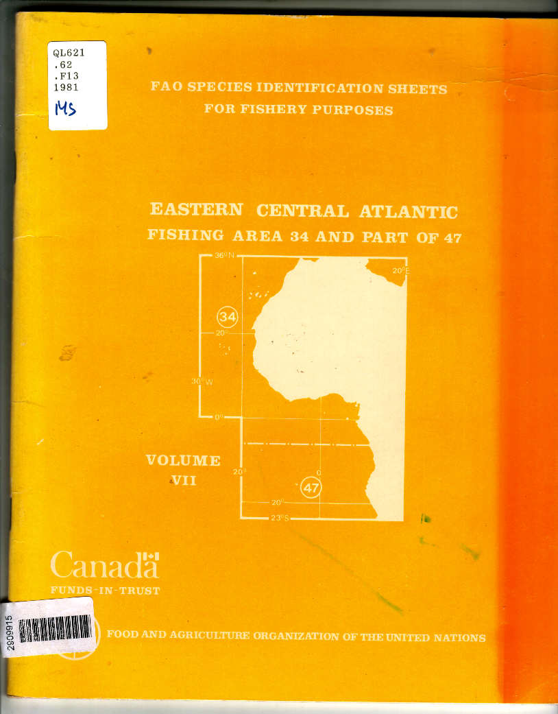 identification sheets for fishery purposes. Eastern Central Atlantic