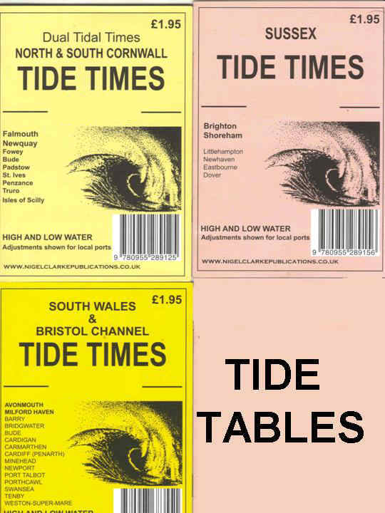 Tide tables and tide times. Charts