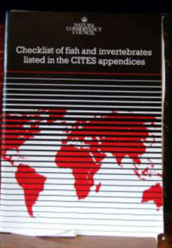 Checklist of fish and invertebrates listed in the CITES appendices